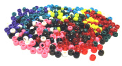 Linpeng 5000-Piece Pony Beads, 4 by 7mm, Assorted Colours