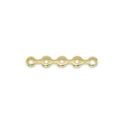 Beadalon 144-Piece 5-Hole Spacer Wave, Nickel Free Gold Plate