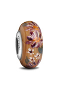 Fenton Glass Jewellery Bead, Floral Enchantment
