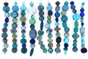 Jesse James Strand Beads, Assortment Blue, Set of 10