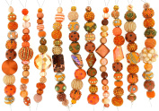 Jesse James Strand Beads, Assortment Orange, Set of 10
