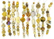 Jesse James Strand Beads, Assortment Gold, Set of 10