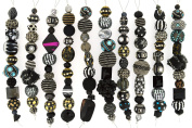 Jesse James Strand Beads, Assortment Black, Set of 10
