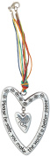 Cathedral Art KT602 Mom Please Be Safe Heart Car Charm, 18cm