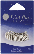 Blue Moon Plated Metal Dangle Charms, Silver Made with Love, 16/Pkg
