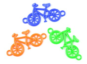Midwest Design Imports 3-Piece Loom Band Charms Set, Neon Bike, Green/Orange/Blue