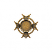 Spellbinders GLLB-005G A Gilded Life Iron Cross Bezel for Jewllery Making, Large