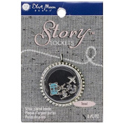 Blue Moon Beads Story Lockets Metal Charm, Travel, Assortment, 5-Pack