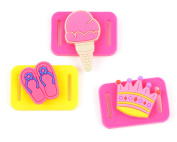 Midwest Design Imports 3-Piece Loom Band Charms Summer Set, Ice Cream Cone/Crown/Flip Flops