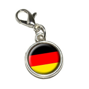 Graphics and More German Germany Flag Antiqued Bracelet Pendant Zipper Pull Charm with Lobster Clasp