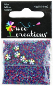 Wee Creations Micro Beads and Flowers, 4gm, Multicolor