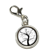 Graphics and More Tree of Life Antiqued Bracelet Pendant Zipper Pull Charm with Lobster Clasp