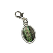 Graphics and More Redwood National Park CA Antiqued Bracelet Pendant Zipper Pull Oval Charm with Lobster Clasp