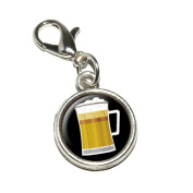 Graphics and More Beer Frosty Mug Antiqued Bracelet Pendant Zipper Pull Charm with Lobster Clasp
