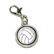 Graphics and More Volleyball Sporting Goods Sportsball Antiqued Bracelet Pendant Zipper Pull Charm with Lobster Clasp