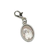 Graphics and More Shih Tzu - Pet Dog Antiqued Bracelet Pendant Zipper Pull Oval Charm with Lobster Clasp