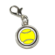 Graphics and More Tennis Ball Antiqued Bracelet Pendant Zipper Pull Charm with Lobster Clasp