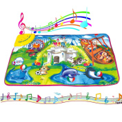 Baby's Amusement Park Playmat with Music Activity Dance Mats Toys for 6+ Months Infants by Beby