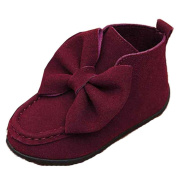 For 1-6 Years old Girls,Clode® Fashion Suede Bowknot Baby Girls Child Hard Sole Ankle Boot Warm Autumn Winter Shoes