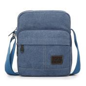 EssVita Men's Retro Canvas Messenger Bag Outdoor Sports Shoulder Bags Crossbody Satchel Bag for Travel Hiking Daypack