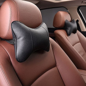 Calcifer® 1 pair Brand New Fashion Comfortable Memory Foam Head Massage Car Neck Pillow Headrest Seat#CP004