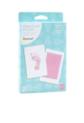 Pearhead Newborn Baby Handprint or Footprint with Clean-Touch Ink Pad, Pink