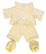 Yellow chick pyjamas & slippers pjs outfit / teddy clothes to fit 38cm Build a Bear bears