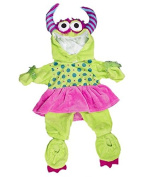 """""""Girlie"""" Green Monster Costume 16"""" (40cm) Teddy Clothes Outfit For Build a Bear"""