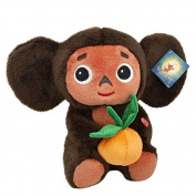25 CM Cheburashka with Orange Talking Plush Toy 9.8""