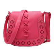 Vintage Elegant Designer Style Handbag Small Shoulder Bag Hollow Pattern For Women Ladies Girls Watermelon Red