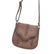 Faux Leather Handbags Hollow Pattern Tote Satchel Weaving Style Shoulder Bag Purse for Women Camel