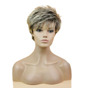 Tonake New Short Grey Wig Hair Heat Resistant Hair for Women Lady