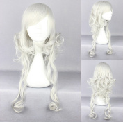 Women's Wig Cosplay Wig 60 cm White Curly with Fringe
