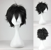Women's Wig Cosplay Wig Arcana Famiglia Luca Black 30 cm