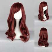 Women's Wig Cosplay Wig 50 cm Red Curly with Fringe