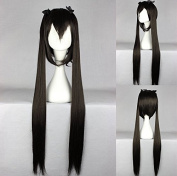 Women's Wig Cosplay Wig K; The Azusa Nakano black 100 cm