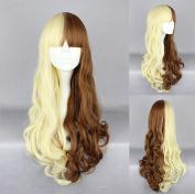Women's Wig Cosplay Wig Brown Blonde Wavy 65 cm