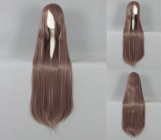 Women's Wig Cosplay Wig 100 cm Long Straight Brown With Bangs