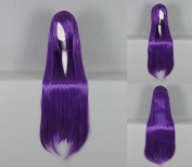 Women's Wig Cosplay Wig 100 cm Long Straight Purple with Pony