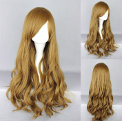 Women's Wig Cosplay Wig Blonde Curly with Fringe 65 cm