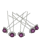 Spikes Pack of 5) for Wedding, Party, Communion Product - Purple - One size - In Stock and Shipped from France