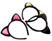 Children and Adult Cute Lovely Hairband Black Plush Cat Ears Headband for Xmas Masquerade Party Cosplay Costume Accessory