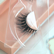 Arimika Handmade Natural 3D 100% Authentic Mink Fur False Eyelashes For Makeup 1 Pair Pack