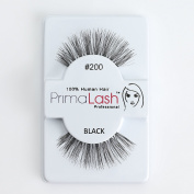 100% Human Hair False Lashes by PrimaLash Professional STYLE #200 Handmade Strip Lashes