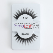 100% Human Hair False Lashes by PrimaLash Professional STYLE #62- Handmade Strip Lashes