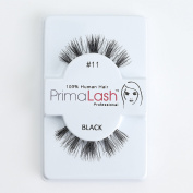 100% Human Hair False Lashes by PrimaLash Professional STYLE #11- Handmade Strip Lashes