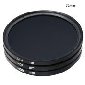72mm Neutral Density ND Filter kit ND2 ND4 ND8 for Canon Nikon Sony Camcorder Camera Lens