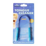 Genkent Tongue Cleaner Scraper Stainless Steel Taste Enhancer Fresher Breath Blue Colour