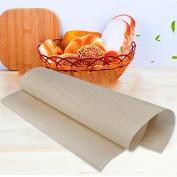 Hrph Reusable Fibreglass Cloth Non-Stick Mat Multifunctional BBQ Mat Nonstick Baking Sheet 60*40cm