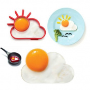 Efbock Egg Mould Silicone Pancake Mould Frying ring Fried Sun Breakfast Silicone 4pcs
